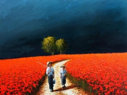 Poppies 2012 Painting