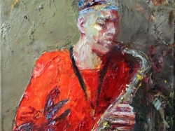 Saxofon Player 2012 Painting