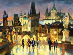 SOLD                      Charles Bridge at Night. Prague